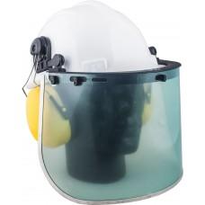 Kit 3 Helmet, Ear Muffs And Attachable Polycarbonate Visor